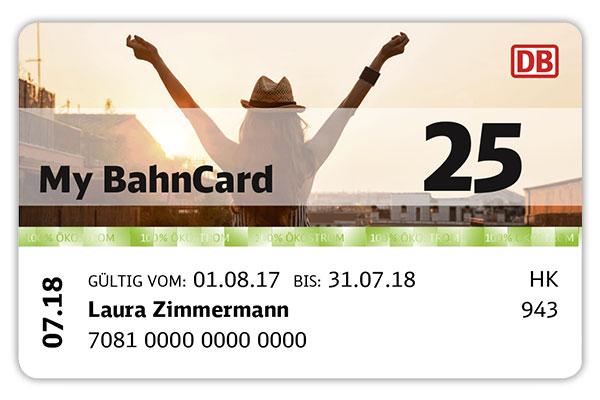 My BahnCard 25 Studenten