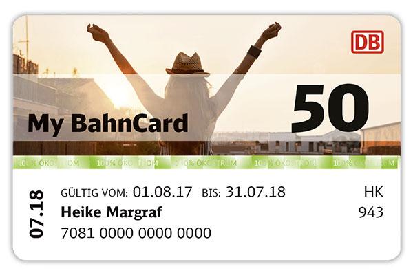 My BahnCard 50 Studenten