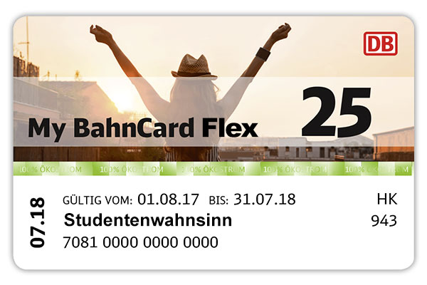My BahnCard Flex Studenten